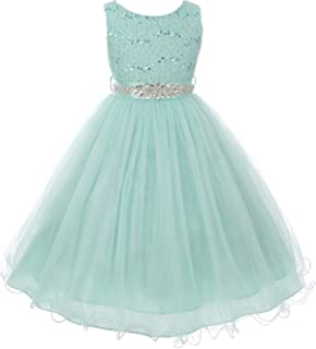 mint blue flower girl dresses