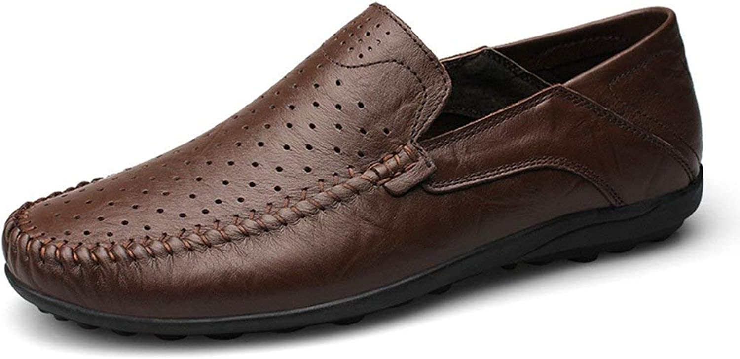 ZHRUI Boy's Men's Mesh Breathable Coffee Fashion Daily Loafers UK 5 (color   -, Size   -)