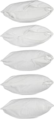 American Pillowcase Pillow Protector - 4 Sizes (Standard, Queen, King, Body) (Pillow Protector - Body - Qty 1, White)