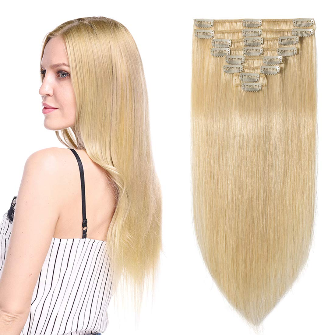 S-noilite Clip in online shop Hair Extensions Max 60% OFF Human