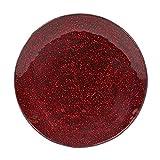 Kerze Teller 15cm 20cm Glas klar oder Metallic Hochzeit Dekoration, rot, 15 cm