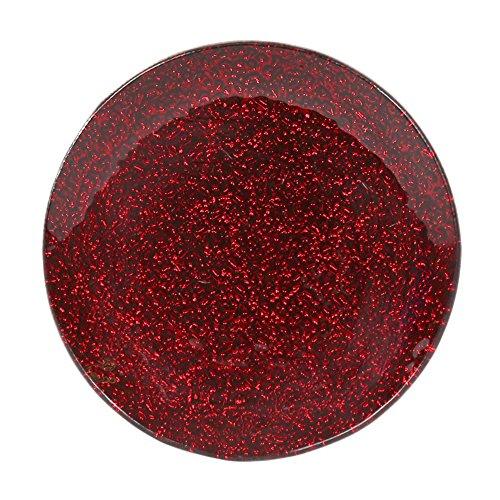 Kerzenteller 15 cm 20 cm Glas klar oder metallisch Hochzeitsdekoration (rot, 15 cm)