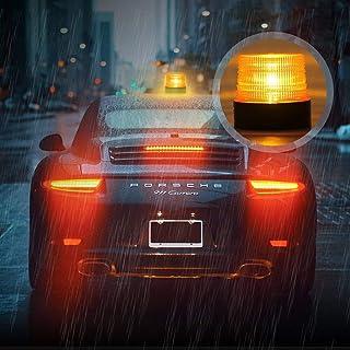 WYYZSS 12 LED Rundumleuchte Blitzleuchte 7 Modus Doppelter Schraube 12//24V Amber Warnleuchte Magnetische Notfallblinklampe Wiederherstellungswarnung gelbes Licht der Decke