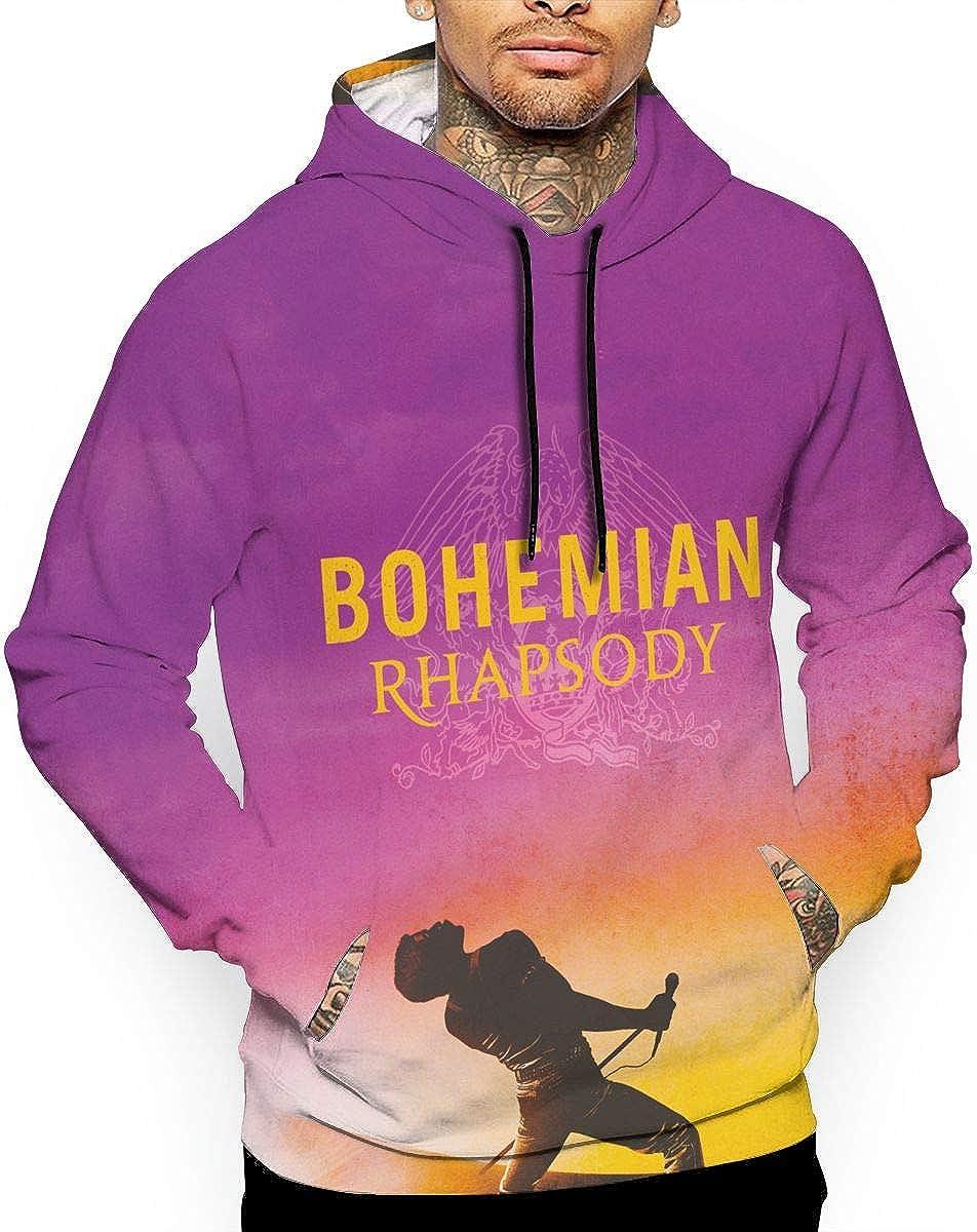 MACA1 Freddie-Mercury Teen Boys Girls 3D Print Pullover Hoodies with Pocket Hooded Sweatshirt