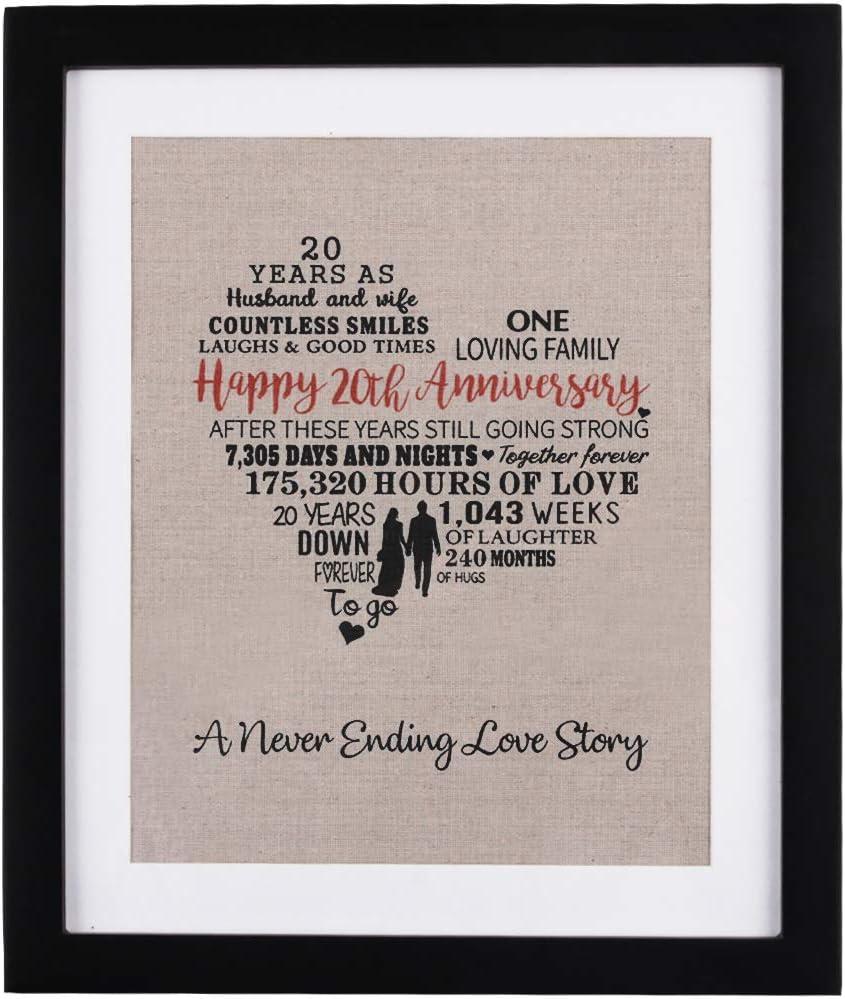 2001 Wedding Married 20 Years 20 Year Anniversary Gift for Husband 20th Anniversary Gift for Husband: 20 Years Anniversary Gift for Him
