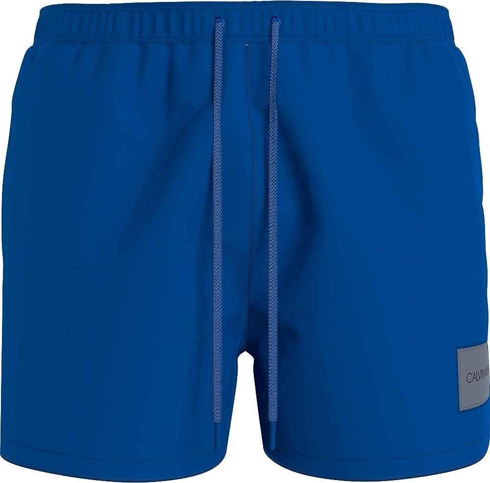 Calvin klein medium drawstring, costume a pantaloncino per uomo,100% poliestere riciclato KM0KM00574B