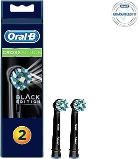 Oral-B Diş Fırcası Yedek Başlığı Cross Action Siyah 2 adet, Siyah