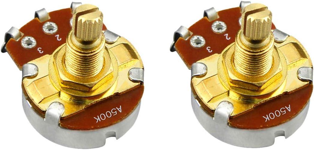 Max 78% OFF FLEOR 2pcs A500K Guitar Pots L18mm Guit Shaft Audio Volume Max 46% OFF Taper
