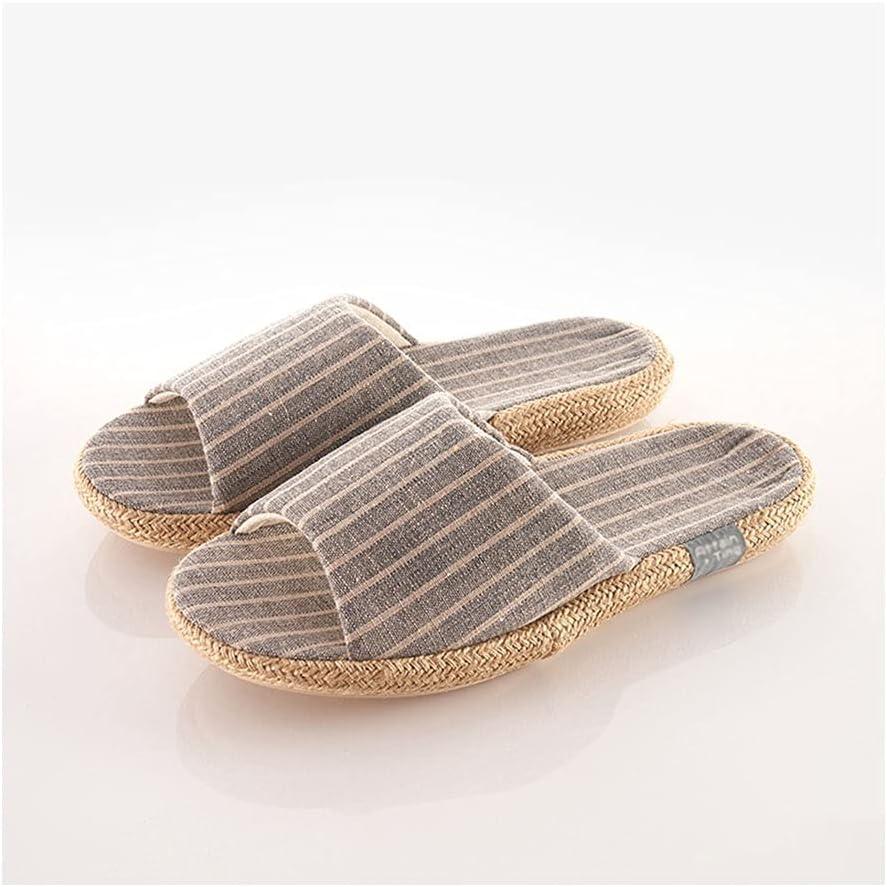 1 year warranty Lightweight Linen Slippers Men,Unisex Home Some reservation Summ