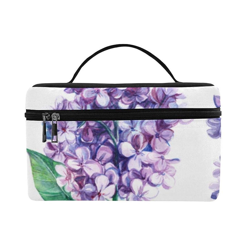 沈黙メダリスト秘書KWESG メイクボックス 紫色ライラック コスメ収納 化粧品収納ケース 大容量 収納ボックス 化粧品入れ 化粧バッグ 旅行用 メイクブラシバッグ 化粧箱 持ち運び便利 プロ用