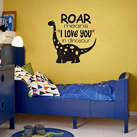 Dinosaur Wall Decals Peel and Stick Removable Wall Stickers with Always be Yourself Unless You can be a Dinosaur Vinyl Wall Art for Boys and Girls Bedroom DDK29 Green, Medium Blue
