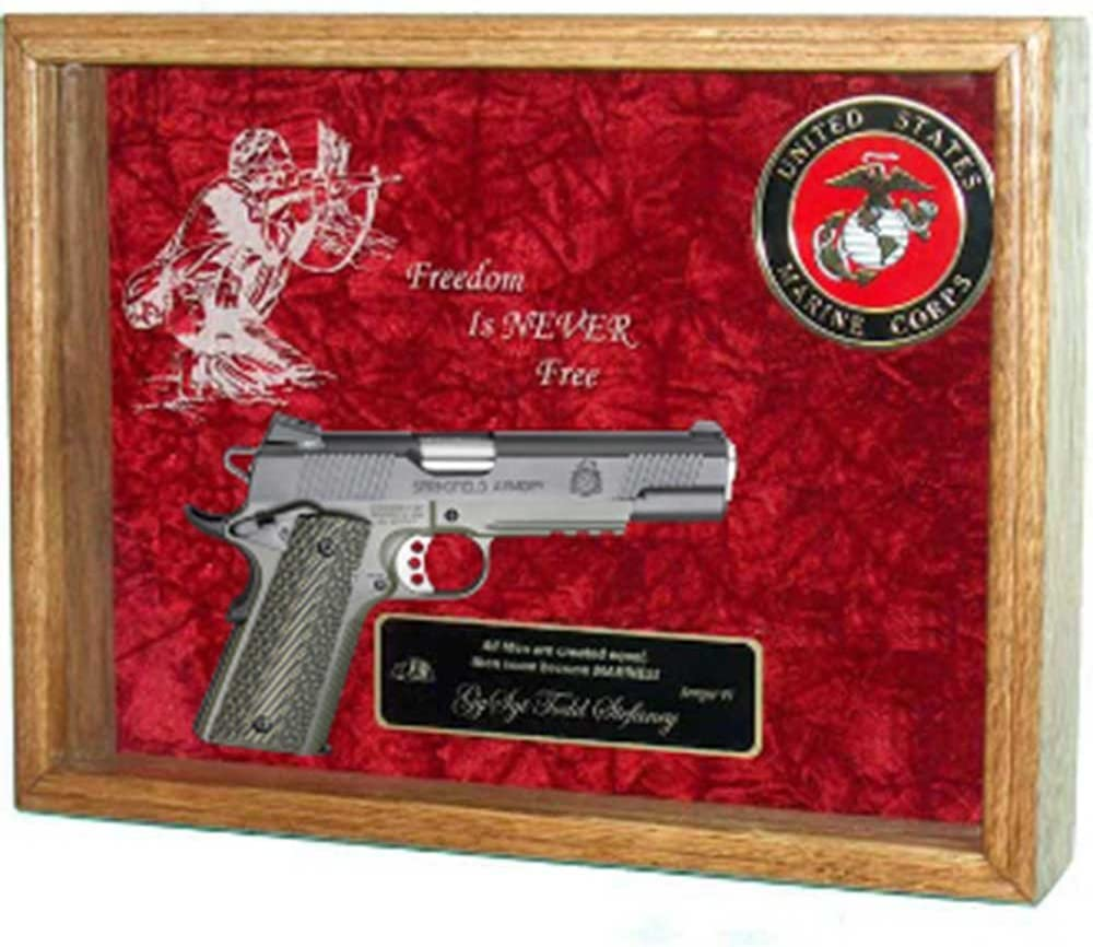 Amazon Com Military Flag 1911 Display Case Frame For 1911 Shadow Case For 1911 Pistol