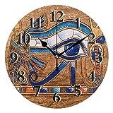 TropicalLife Lerous - Reloj de pared egipcio Horus Eye silen