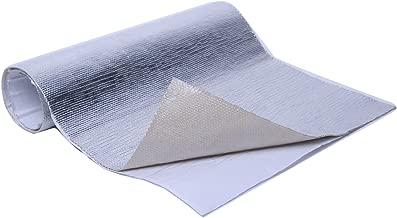 WISAUTO Aluminized Heat Shield Thermal Barrier Adhesive Backed Heat Sleeve (12'' X 24'')