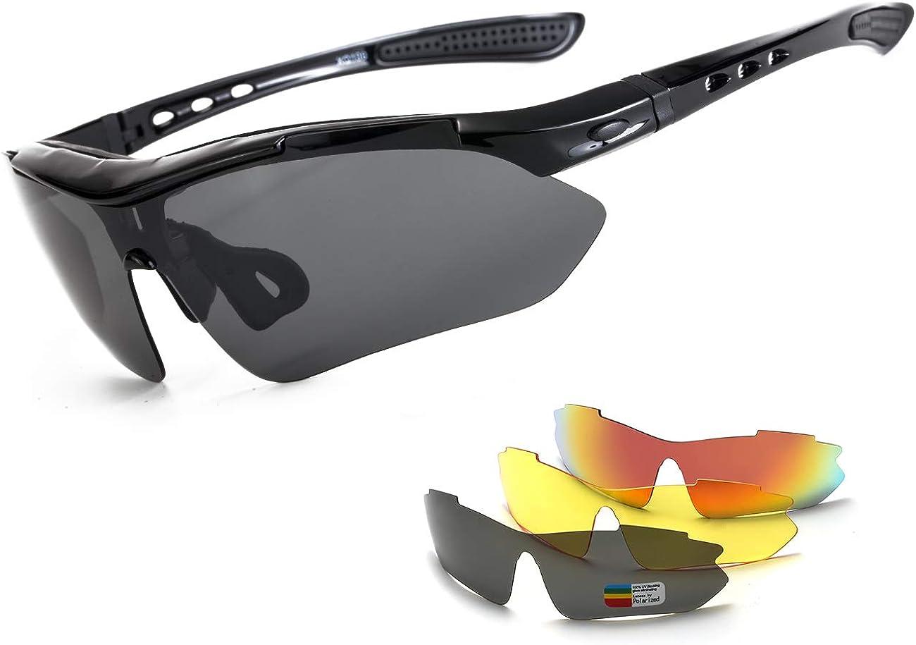 MALIDAK Polarized sports sunglasses Riding Motorcycle Glasses for Men women