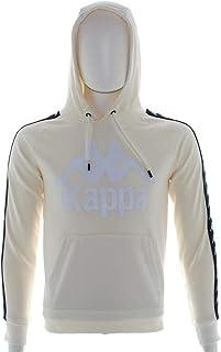 Kappa A1F WHT-Blue 222 Banda Abbigliamento Uomo Felpa 3111HWW