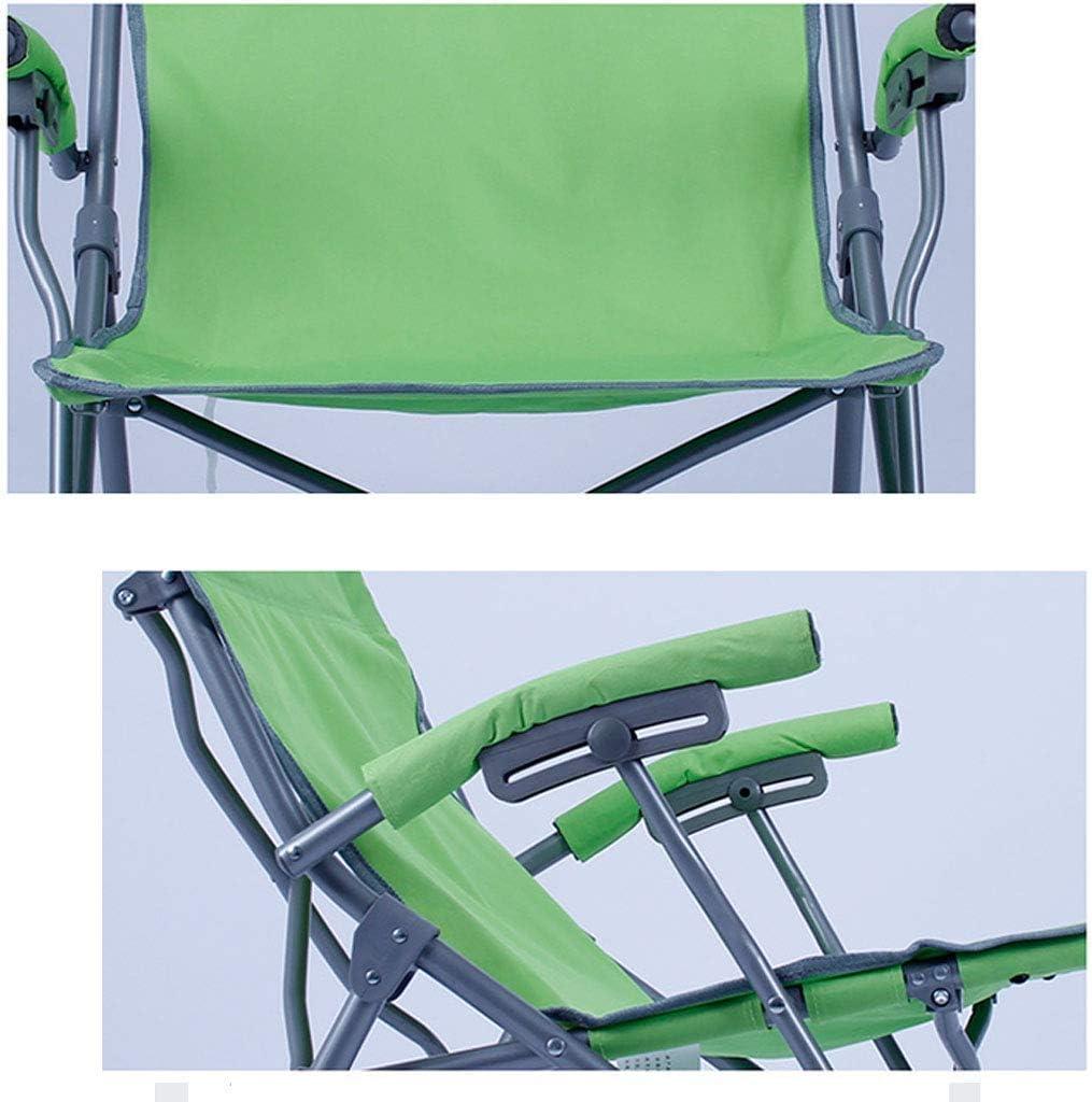 GQQ Chaise de Bureau, Petite Chaise Longue Pliante Décontractée Américaine Chaise de Camping Portable En Plein Air Chaise Pliante Récréative (62.5 * 69 * 55Cm),Vert Vert