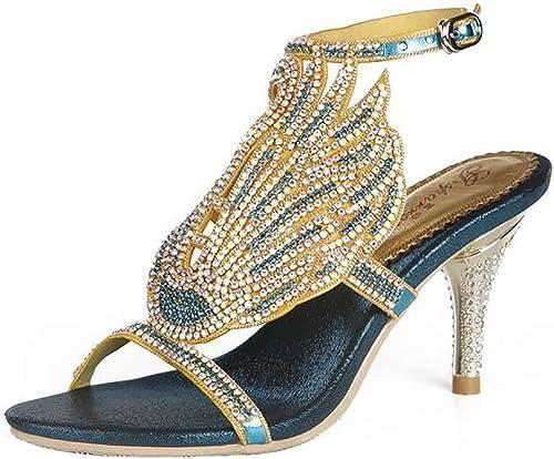 Unbekannt Cygne des Femme Strass modèle Diamante Soirée Mariage Décontractée Décontractée Sandale Pantoufle,vert,35  jusqu'à 60% de réduction