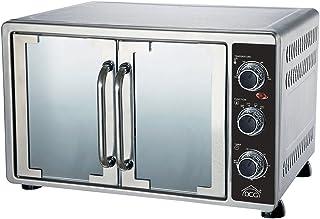 DCG Eltronic MBS58 Four électrique ventilé à double porte 58 L Acier inoxydable Argenté avec thermostat réglable Températu...