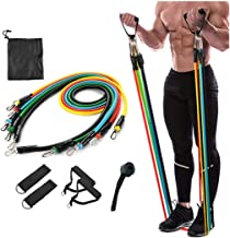ADTALA Resistance Bands Set, Including 5 Stackable Exercise Bands with Door Anchor, Ankle Straps, Carrying Case & Guide Eb...