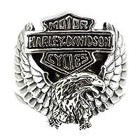 ジナブリング (JINA BRING) アメリカンイーグル リング 翼を広げた鷲 ハーレー モーターサイクル ハーレーダビッドソン#21 シルバー925
