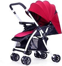 GJJSZ Cochecito de bebé y Silla de Paseo para niños pequeños Implemento Ligero y Plegable de Dos vías del Sistema de absorción de Impactos para bebés de 0 a 3 años (Color:A)