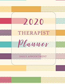 Therapist Daily Planner 2020: Monthly appointment book 2020, 4 column hourly 15 minute increment daily planner weekly start Monday to Sunday 8AM to ... (Therapist Planner Daily and Appointment)