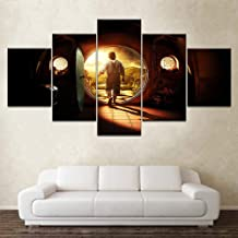 5 panel canvas print hobbit canvas painting poster home decoration wall art living room modular oil painting free shipping