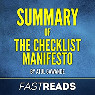 Summary of The Checklist Manifesto: by Atul Gawande audiobook cover art