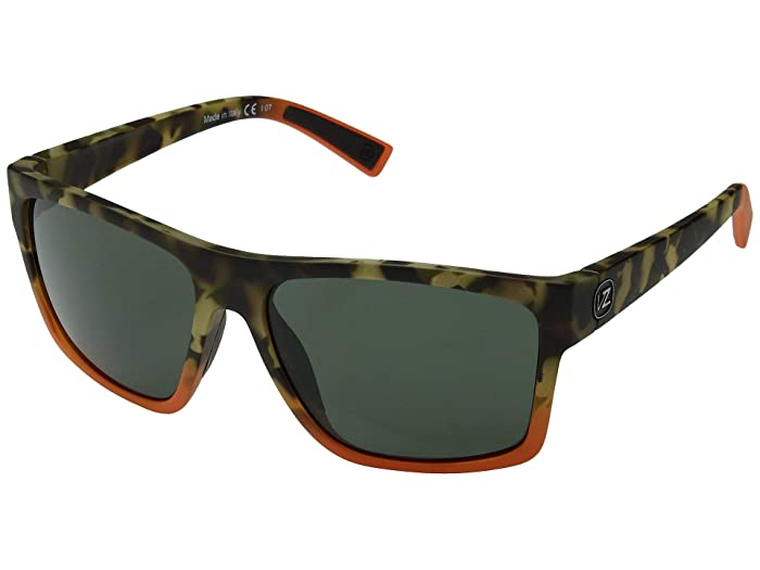 VonZipper Dipstick (Camo/Orange Satin/Vintage Grey) Sport Sunglasses