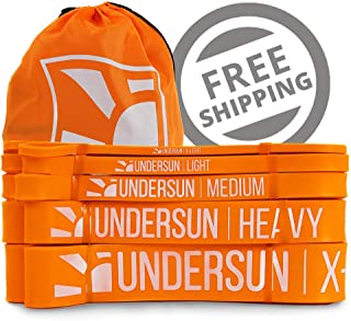 Undersun Fitness Single or Set of 5 Resistance Bands by...