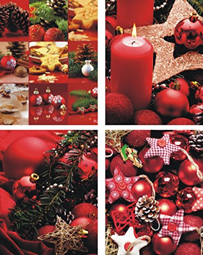 Pochettes cadeaux medium (moyen) – K & B Distribution de Noël sacs sac de Noël sacs cadeaux noël 7211 (48 pièces)