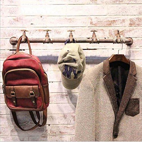 HAIZHEN Wall Storage Shelves Ijzeren kapstok Kraanvorm Vintage industriële slang kleding displaystandaard L72CM Sterke stabiliteit