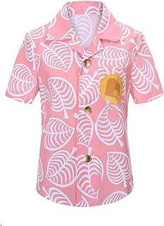 「Mrinoyume(商願2020-004862)」 あつまれ あつ森 しずえ コスプレ シャツ 萌グッズ 衣装 夏 半袖 コスチューム ピンク (衣装, L)