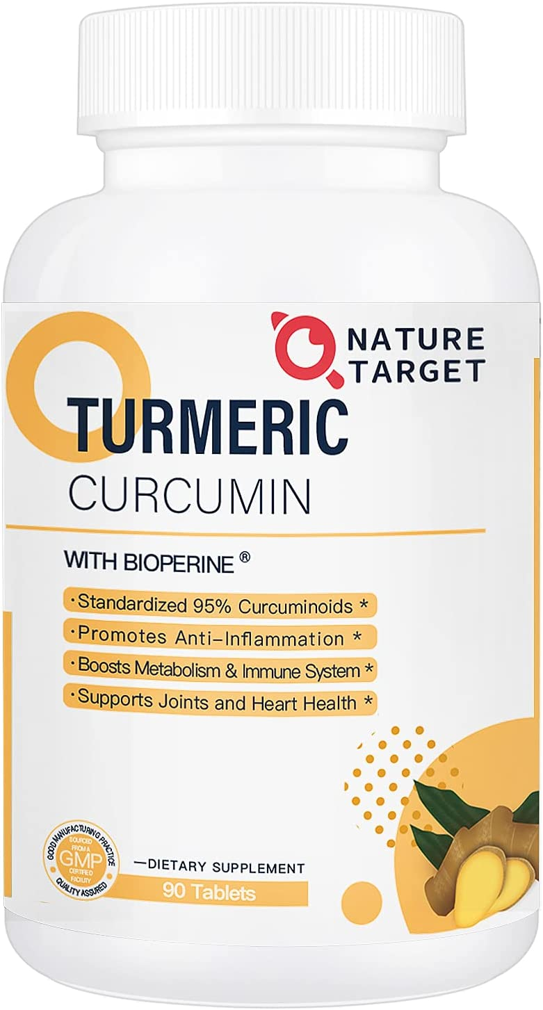 Turmeric-Curcumin Max 53% OFF with BioPerine Ginger Supplement for Joint Su unisex