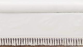 Sweet Jojo Designs Ivory Gender Neutral Boho Bohemian Girl Boy Baby Nursery Crib Bed Skirt Dust Ruffle - Solid Color Beige...