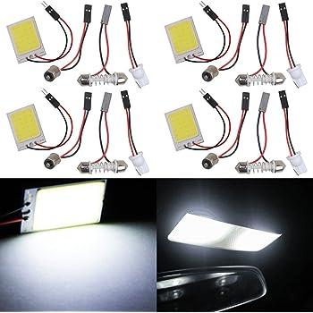 TABEN 2PCS super bianca a risparmio energetico LED COB 36-smd panel Dome Light auto Car interior lettura luce targa del tetto soffitto interno cavo lampada con t10//BA9S//festone adattatori