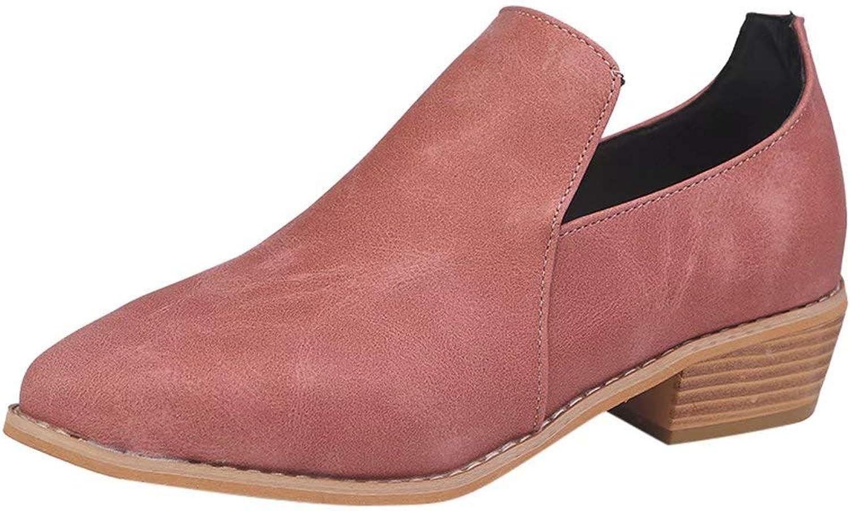 Women Ladies Leather Ankle Boots Roman shoes Martin Short Bootie