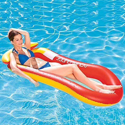 GuoYq Aufblasbares Sofa mit Netto-Schwimmbett tragbare Faltbare Liege Boje Wasser Hängematte PVC Material Sicherheit auslaufsicher