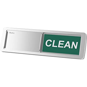 Premium round magnetic dishwasher sign 3.8 wide silver sliding dirty//clean sign single unit