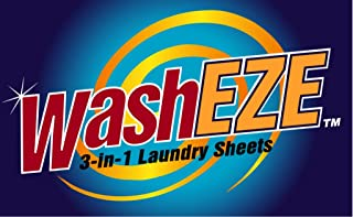 WashEZE 3-in-1 Laundry Detergent Sheets 20 Loads Scented (The Perfect Travel, Dorm, College, Airline, Camping and RV Laundry Detergent)