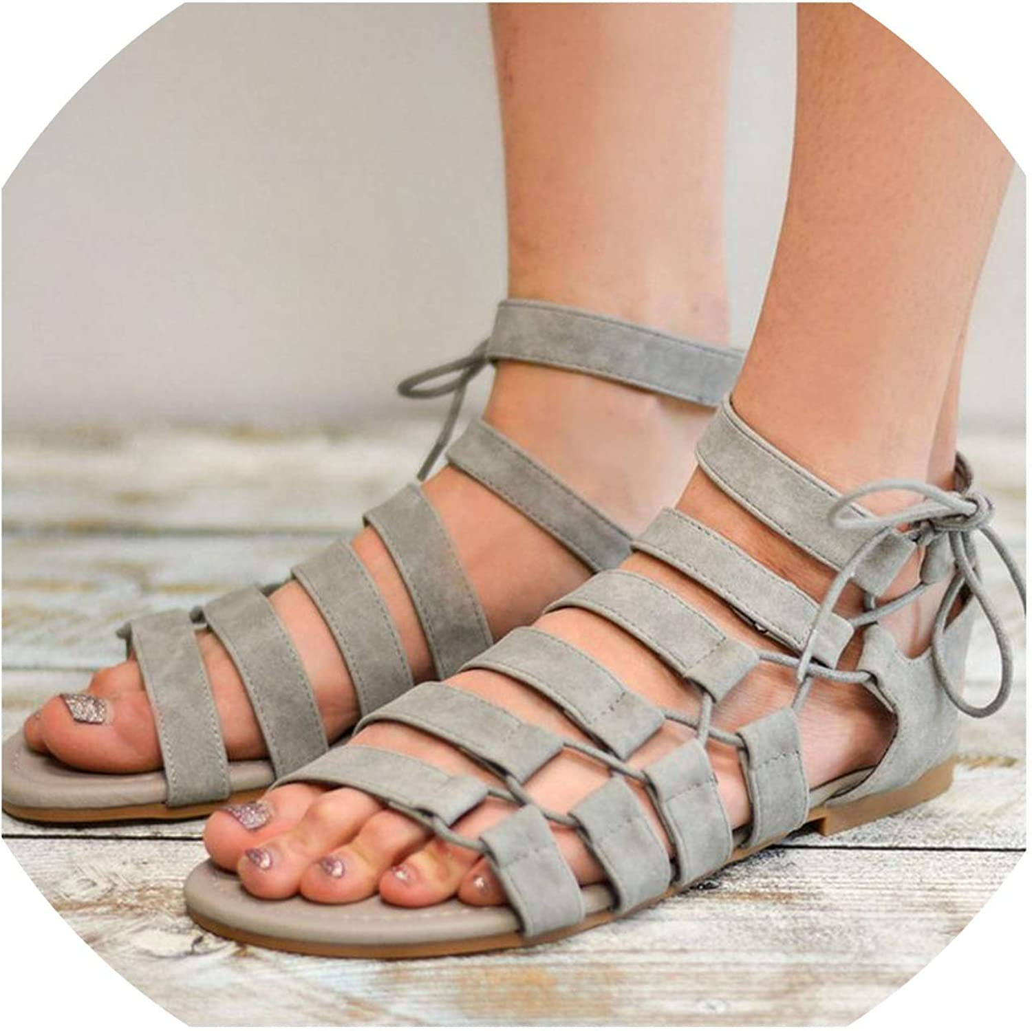 bluee-shore Gladiator Sandals Women Sandals Casual Summer shoes Woman Beach Flat Sandals shoes