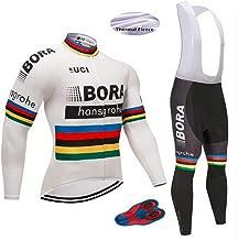 Cycling Jerseys Men's Long Sleeve Bib Pants Set Bicycle Jersey Winter Thermal Fleece Breathable Jersey V284