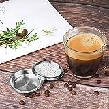 YOBENS NBM para una cápsula Reutilizable de Acero aliel para Senso Coffee Filter Espresso Compatible con la máquina Philips (Farbe : Dark Khaki)