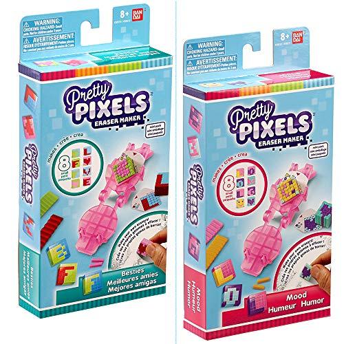 BANDAI 38510 Pretty Krazy Pixels– Radiergummi-Fabrik– Mini-Set – Zufällig ausgewähltes Modell – Basteln, Merhfarbig