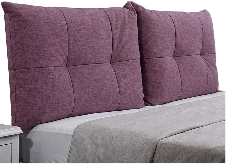 WENZHE Upholstered Headboard Pillow Bedside Cushion Wedges Backrest Waist Pad Cloth Backrest Bedroom Lounge Washable Waist Belt Soft Case, 6 colors (color   E, Size   90x60cm)