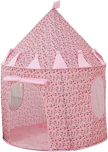 Kinder Spiel Zelt B Cartoon Muster Rosa Runde Jurten Indoor und Outdoor Spielzeug Zelte (nur ein Zelt)
