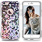 Unnito iPhone 6 Case – Hybrid Commuter Case | Slim Cover with Hard Shell Design and Soft Inner Layer Compatible with iPhone 6S White Case - Stained Glass