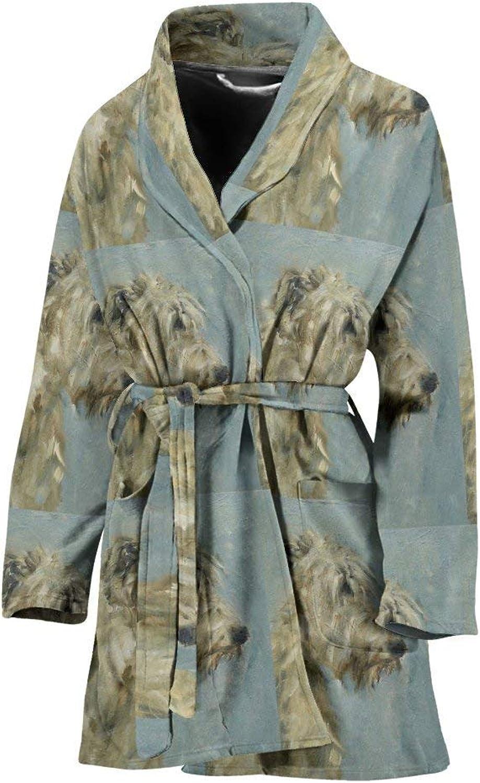 Deruj Irish Wolfhound Dog Patterns Print Women's Bath Robe