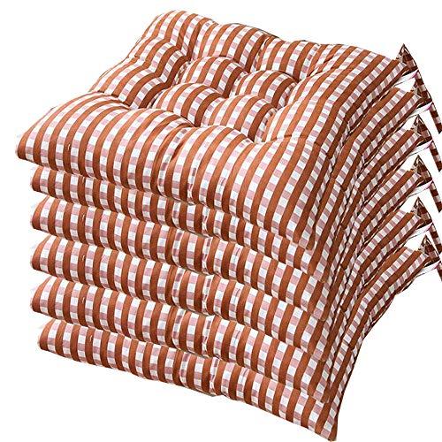 AGDLLYD - Cojín para Silla de 40 x 40, Cojines de Silla Acolchados, Suave cojín para Silla, cojín de Cocina de jardín, 40 x 40 x 7 cm, Disponible en Muchos Colores Diferentes